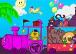 Coloring Games - Animal Train