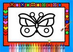 Color Decorate Butterflies