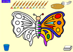 Coloring Games - Color the Butterfly