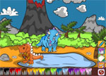 Coloring Games - Dino Coloring