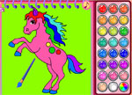 Coloring Games - Horse and Unicorn