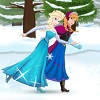 Frozen Sisters Skating