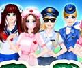 Dress Up games :: Vocational Girl Dress Up
